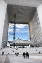 La Grande Arche, La Defense, Paris, France Royalty Free Stock Images