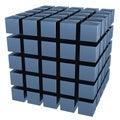 La imagen tridimensional de un conjunto de cubos Foto de archivo
