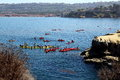 La jolla kayaks in californis Royalty Free Stock Photo