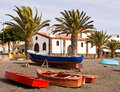 La Lajita Fishing Village, Fuerteventura, Royalty Free Stock Images