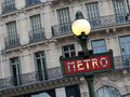 La métro signent dedans paris france Photos libres de droits