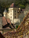 La Malartrie castle, La Roque-Gageac (France ) Stock Photo