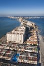 La manga del mar menor murcia coast aerial view Royalty Free Stock Images