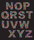 La mosaïque de couleur boutonne des alphabets Photos libres de droits
