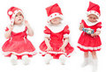 La muchacha en un casquillo rojo Foto de archivo