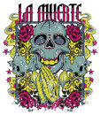 La muerte prayer vector illustration ideal for printing on apparel clothing Stock Images