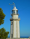 La nao lighthouse in cape alicante spain Stock Photography