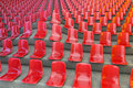 La ola grandstand seatings at performing an unusual wave d rendering Stock Photos