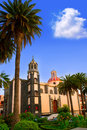 La Orotava Concepcion church red dome Royalty Free Stock Photo