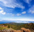 La Palma Caldera de Taburiente sea of clouds Royalty Free Stock Image