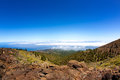 La Palma Caldera de Taburiente sea of clouds Stock Images