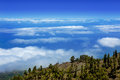 La Palma Caldera de Taburiente sea of clouds Royalty Free Stock Photos