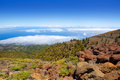 La Palma Caldera de Taburiente sea of clouds Royalty Free Stock Photo