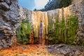 La palma cascada de los colores Royalty Free Stock Photo