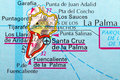 La palma map the island of in detail on the Stock Image
