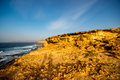 La pared coast on fuerteventura island sand near village the south western part of Stock Photography