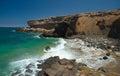 La pared fuerteventura eroded west coast of Stock Photo