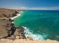 La pared fuerteventura eroded west coast of Stock Photography