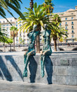 La Parella by Lautaro Diaz, Port Vell, Barcelona, Spain Royalty Free Stock Image