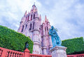 La parroquia de san miguel arcangel allende mexico may church in allende mexico on may the church Royalty Free Stock Photo