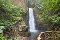 La paz waterfall costa rica distant view of amongst the rainforest Royalty Free Stock Photography