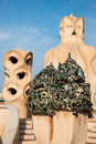 La pedrera by anton gaudi spain Royalty Free Stock Photos