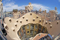 La pedrera barcelona casa milà popularly known as is a modernist building in catalonia spain it was the last civil work designed Royalty Free Stock Photography