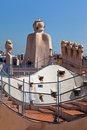 La Pedrera Phantoms in Barcelona Royalty Free Stock Photos