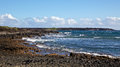 La perouse bay view of maui s coastline along Royalty Free Stock Photos