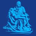 La pieta ,pieta michelangelo ,pieta sculpture ,Mary mother of jesus Royalty Free Stock Photo