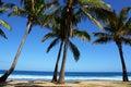 La playa del sueño tiene la cortina o Imagen de archivo libre de regalías