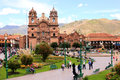 La plaza de armas em cusco Foto de Stock Royalty Free