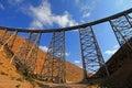 La Polvorilla viaduct, Tren A Las Nubes, northwest of Argentina Royalty Free Stock Photo