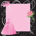 La Quinceanera party invitaiton Royalty Free Stock Image