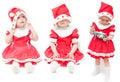 La ragazza in una protezione rossa Fotografia Stock