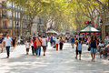 La Rambla Royalty Free Stock Photos