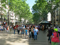 La rambla in barcelona the popular street spain Stock Photo