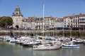 La rochelle poitou charentes france the port of on the coast of the region of Stock Photo