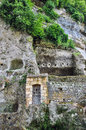 La roque saint christophe troglodytic site in perigord france Stock Images