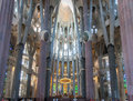 La Sagrada Famila Church Barcelona Spain Royalty Free Stock Photography