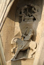 La sagrada familia by antonio gaudi in barcelona detail of Royalty Free Stock Photo