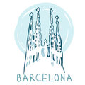La Sagrada Familia,  Barcelona, Spain. Royalty Free Stock Image