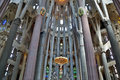La sagrada familia in barcelona spain the cathedral designed by gaudi which is being build since march and is not finished yet may Royalty Free Stock Photos