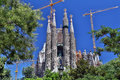 La sagrada familia in barcelona spain the impressive cathedral designed by gaudi Stock Photography