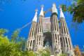 La sagrada familia in barcelona spain the impressive cathedral designed by gaudi Royalty Free Stock Photography