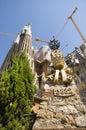 La sagrada familia barcelona spain may exterior of basilica still under construction the masterpiece of architect antoni gaudi Royalty Free Stock Images