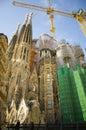 La sagrada familia barcelona spain may particular of s facade basilica still under construction the masterpiece of architect Royalty Free Stock Photography