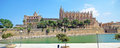 La seu majorca panoramic view of the cathedral of palma de mallorca Royalty Free Stock Photo