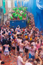 La tomatina festival tomatoes madness bunol spain august in august in bunol spain people are fighting with from truck Royalty Free Stock Images