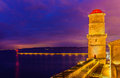 La tour du fanal and digue sainte marie in marseille france Royalty Free Stock Images